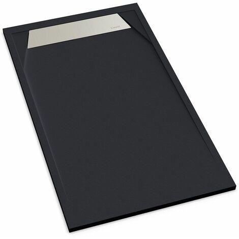 receveur de douche extra plat r sine 80x140 gris ardoise. Black Bedroom Furniture Sets. Home Design Ideas