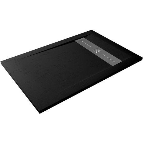 Receveur de douche extra-plat RUBI 80x100 noir