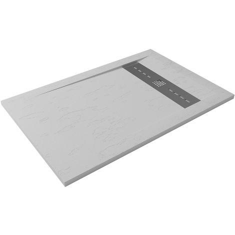Receveur de douche extra-plat RUBI 80x120 blanc