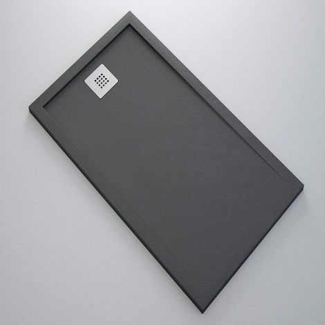 Receveur de Douche extra plat - Solid Surface Anthracite - Extraligt