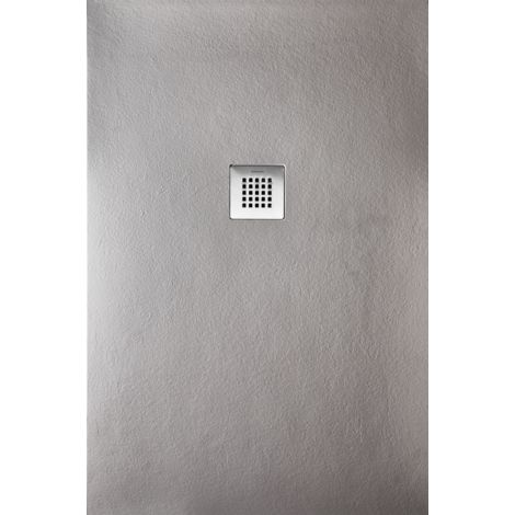 Receveur de douche extra plat STRATO surface ardoisée, rectangulaire gris