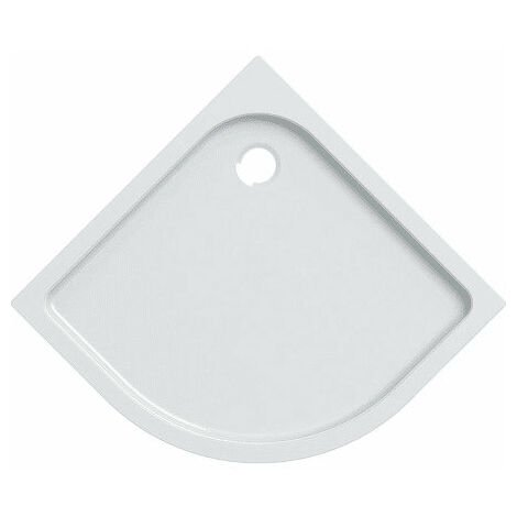 Receveur de douche Geberit Tala, coin arrondi, brillant / blanc - 662440000