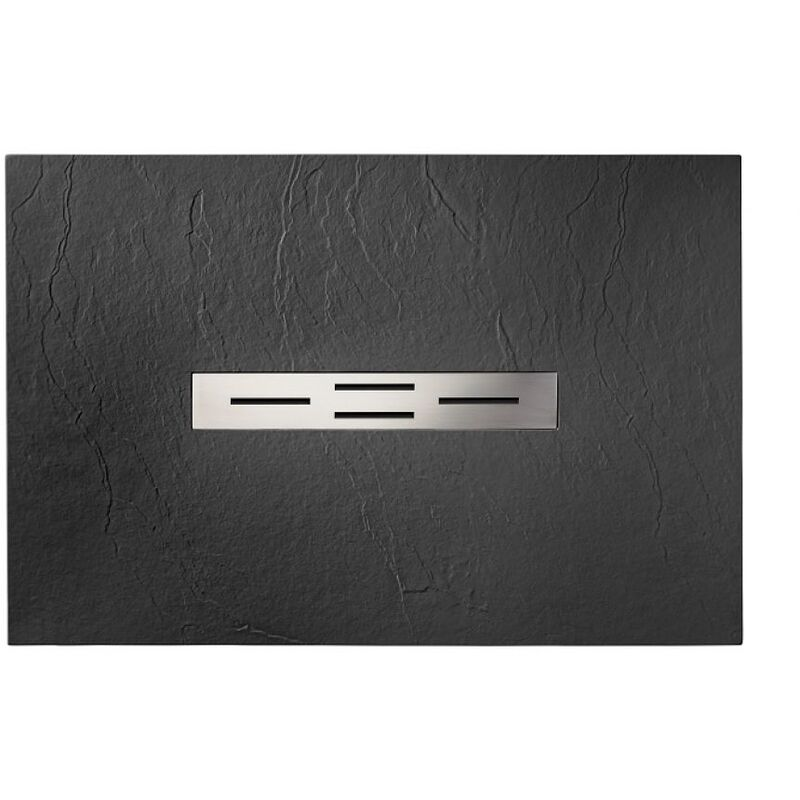 receveur de douche 70x100 graphite coulement lin aire. Black Bedroom Furniture Sets. Home Design Ideas