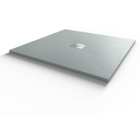 Receveur de douche gris béton extraplat 2.2cm SLIMMER - 90x90cm