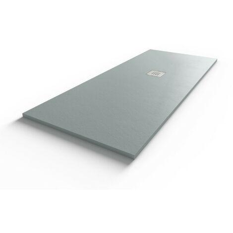 Receveur de douche gris béton extraplat 2.5cm SLIMMER - 170x70cm