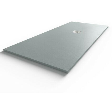 Receveur de douche gris béton extraplat 2.5cm SLIMMER - 180x80cm