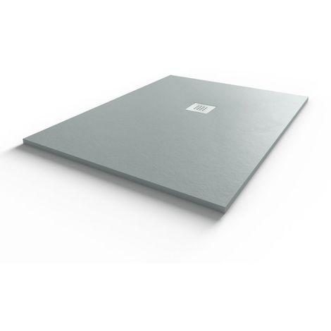 Receveur de douche gris ciment extraplat 2.8cm LEVEL- 90x120cm