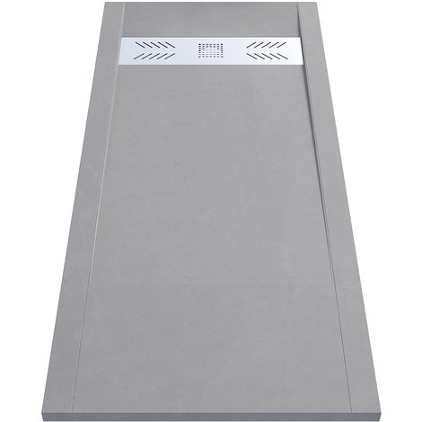 Receveur de douche gris découpable 3.5cm CELEST - 180x80cm