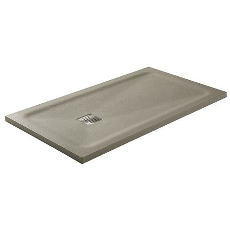 Receveur de douche Hidden charge minérale texture ardoise et charpente cachée Gris Mesure: 150x90