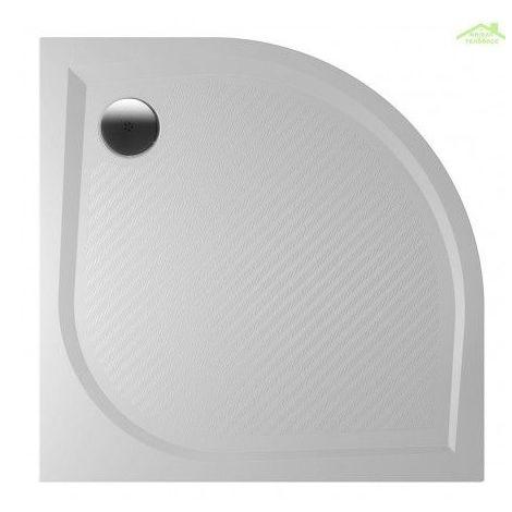 Receveur de douche quadrant en marbre RIHO KOLPING DB10 80x80x3 cm - Avec tablier