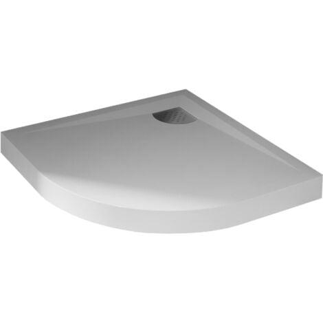 Receveur de douche quart de rond blanc - 90 x 90 cm - Kinecompact - Kinedo