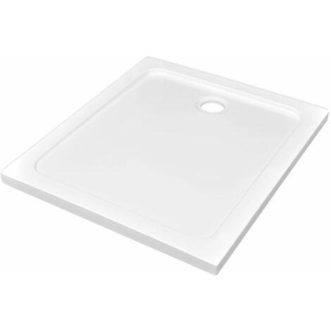 Receveur de douche rectangulaire ABS Blanc 80 x 90 cm