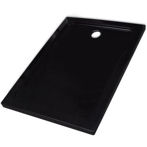 Receveur de douche rectangulaire ABS Noir 80 x 110 cm