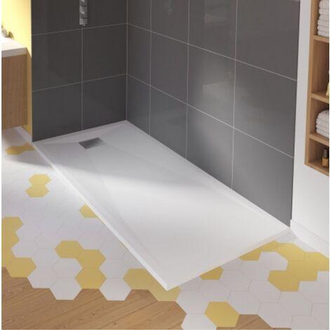 Receveur de douche rectangulaire blanc - Kinecompact - Kinedo
