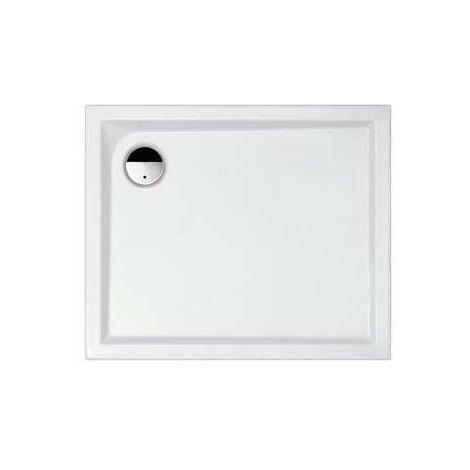 Receveur de douche rectangulaire blanc Slam - 100 x 80 cm - Leda