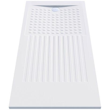 Receveur de douche rectangulaire découpable blanc - Oasis - Créazur