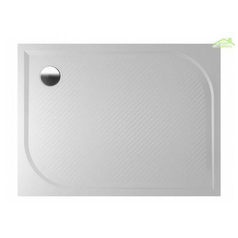 Receveur de douche rectangulaire en marbre RIHO KOLPING DB31 80x100x3cm - Sans tablier