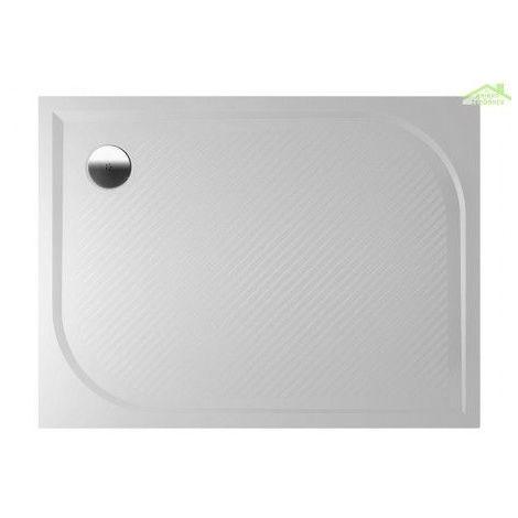 Receveur de douche rectangulaire en marbre RIHO KOLPING DB33 80x120x3 cm - Avec tablier