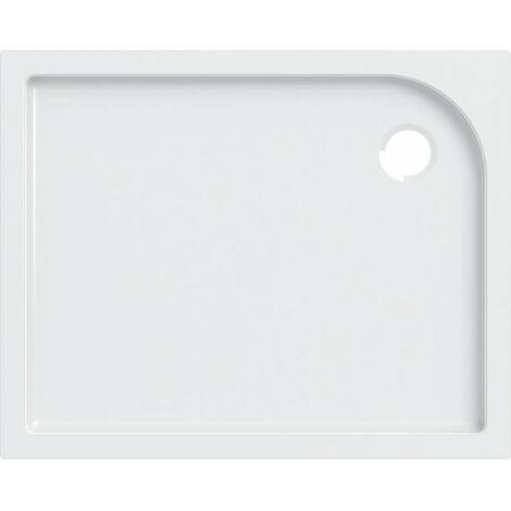 Receveur de douche rectangulaire Geberit Tala, brillant / blanc, 100 x 80 cm - 662410000