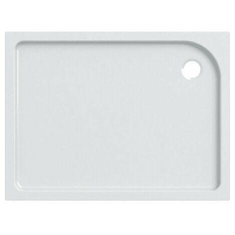 Receveur de douche rectangulaire Geberit Tala, brillant / blanc, 120 x 90 cm - 662420000