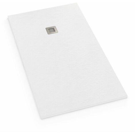 receveur de douche extra plat r sine 70x100 blanc the. Black Bedroom Furniture Sets. Home Design Ideas