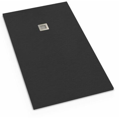 receveur de douche extra plat r sine 70x100 gris ardoise. Black Bedroom Furniture Sets. Home Design Ideas