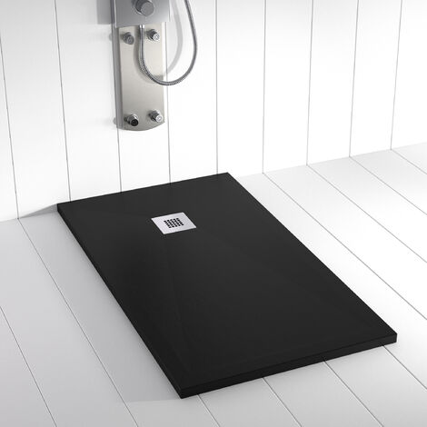 Receveur de douche Résine PLES Noir - 110x90 cm