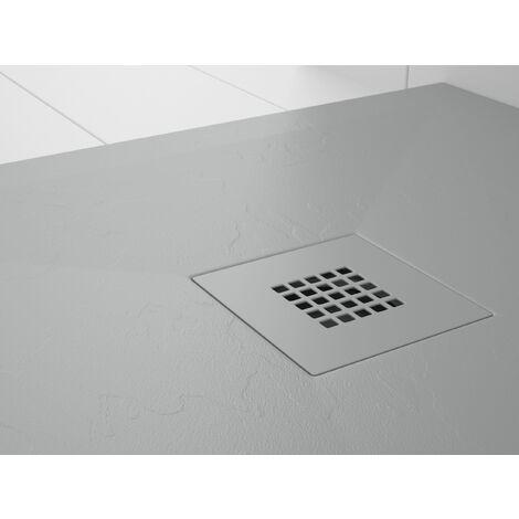 Receveur de douche Résine Stone PLES Gris béton (grille colorée)