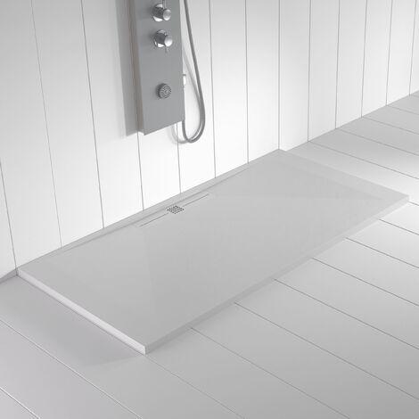 Receveur de douche Résine Stone WIDE Blanc (grille colorée)