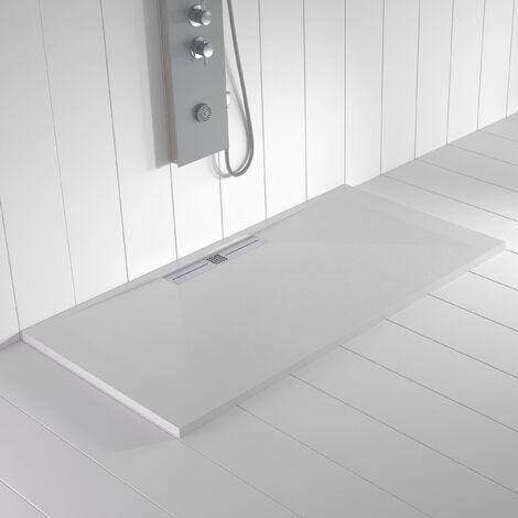 Receveur de douche Résine WIDE Blanc RAL 9003- 80x210 cm
