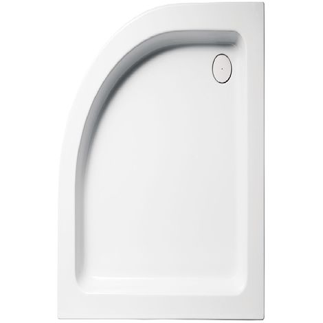 Receveur de douche semi-circulaire en acrylique 120x80x10 WAY18L blanc