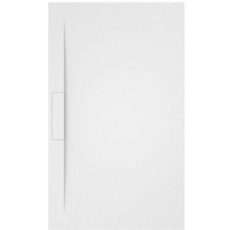 Receveur de douche Side avec siphon caché Blanc Mesure: 130x90