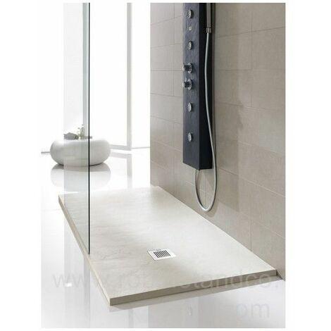 Receveur de douche souple extra plat blanc cassé 160x80 cm Soft - Blanc