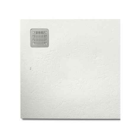 Receveur de douche Terran carre 800X800 en STONEX Off White - ROCA AP10332032001090