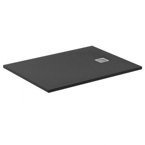 Receveur de douche Ultra Flat S - Noir Intense - 100x70 cm