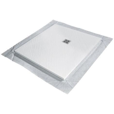 Receveur de douche VENISIO résine Blanc grille carrée - 900x900