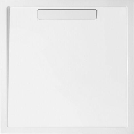 Receveur de douche Villeroy and Boch Quaryl rectangulaire Squaro 170x80x1,8cm, incl. bonde, incl. pieds, blanc - UDQ1780SQR2V-01