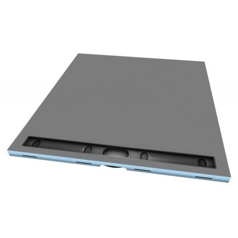 Receveur en polystyrène extrudé à carreler RIOLITO NEO 1200 x 900 mm avec caniveau de 80 cm
