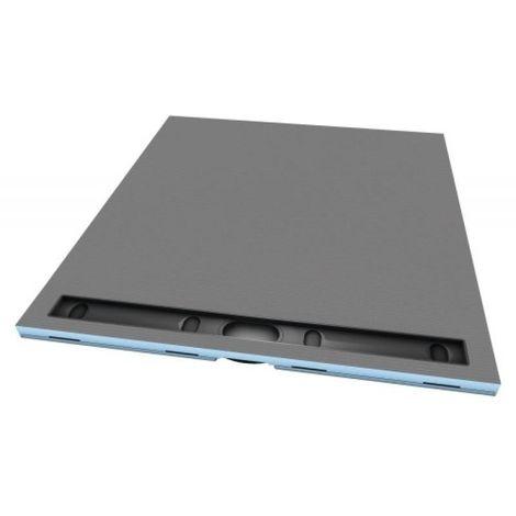 Receveur en polystyrène extrudé à carreler RIOLITO NEO 1800 x 900 mm avec caniveau de 80 cm
