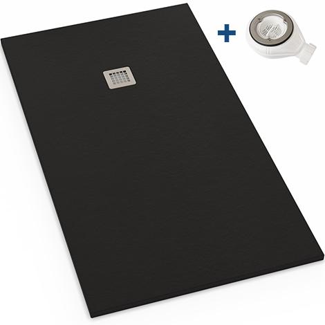 receveur extra plat en r sine 90x120 noir graphite bonde. Black Bedroom Furniture Sets. Home Design Ideas