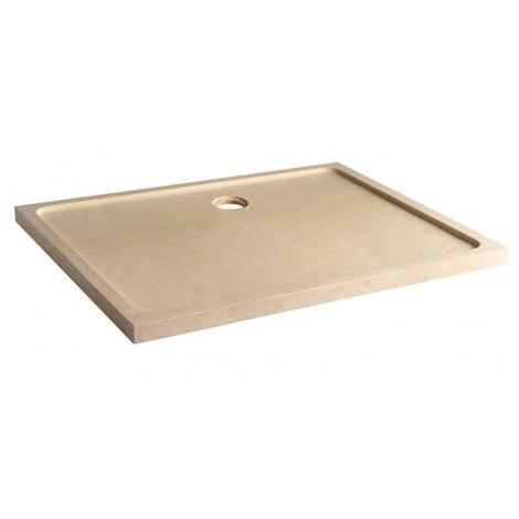 Receveur extra plat 80x120 en marbre beige