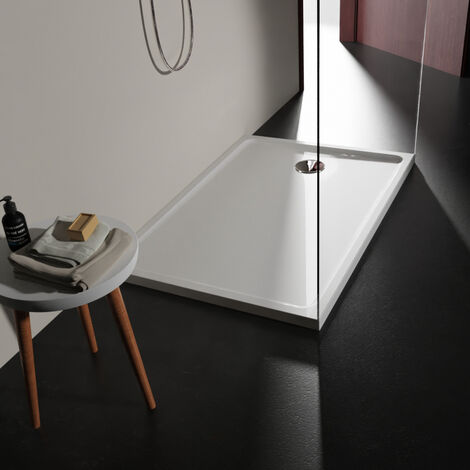 Receveur extra plat 80x120 en solid surface Tango Blanc PLANETE BAIN