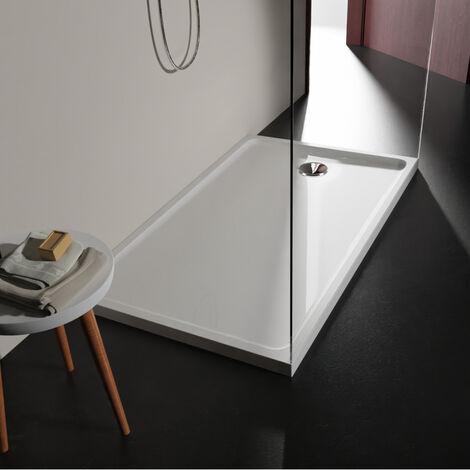 Receveur extra plat 80x140 en solid surface Tango Blanc PLANETE BAIN