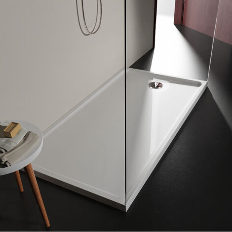 Receveur extra plat 80x160 en solid surface Tango Blanc PLANETE BAIN