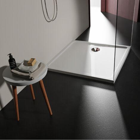 Receveur extra plat 90x90 en solid surface Tango Blanc PLANETE BAIN