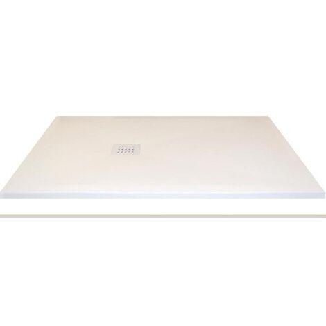 Receveur extra-plat CLASSIC PIZARRA CRETA - bonde latérale | 80 x 140 cm - Verticale