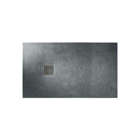 Receveur extra plat Roca Terran 140x90 anti-dérapant gris ardoise
