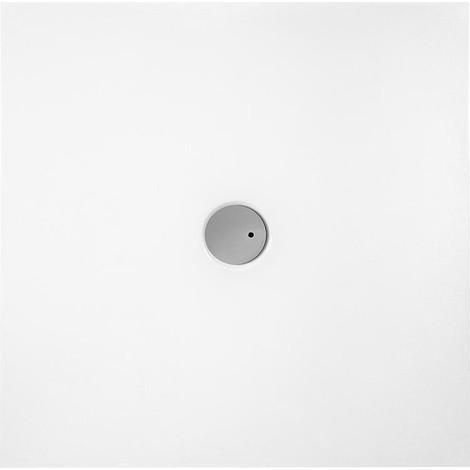 Receveur extra-plate carré EVJE lxHxP 900x50x900mm Acryl, blanc