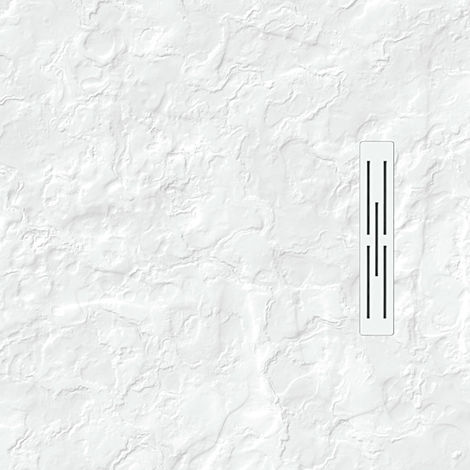Receveur KINEDO KINEROCK Blanc 90 x 90 aspect minéral + bonde extra plate