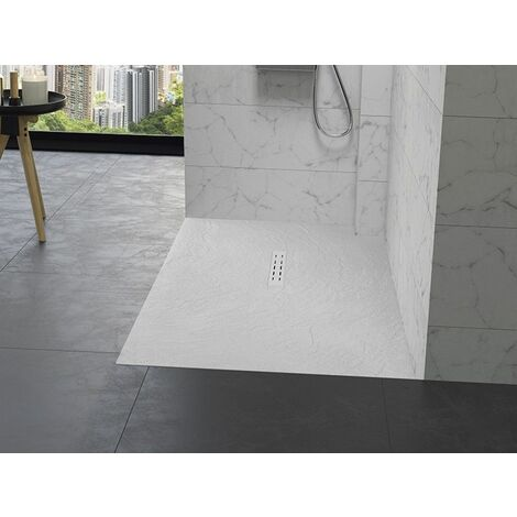 Receveur Kinedo Kinestone Blanc Ardoise | Rectangle 140x80